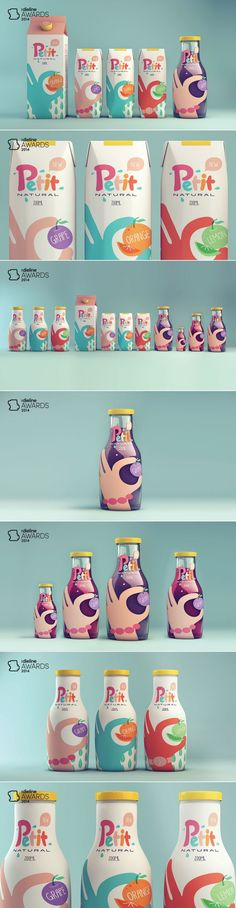 The Dieline Awards 2014: Non-Alcoholic Beverage, 3rd Place – Petit Natural Juice — The Dieline   Packaging & Branding Design & Innovation News