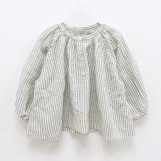 perfectly wrinkled striped linen blouse.  #estella #girls #fashion