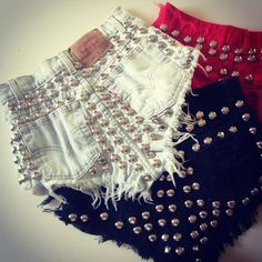 studded jean shorts