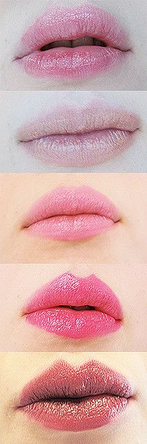 Pink lipstick- second from bottom