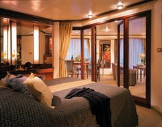 Suites are the only types of cabin on board the Silversea Silver Whisper cruise. That makes cruising around the world very comfortable. Cruise Travel, Cruise Vacation, Cruise Trips, Silversea Cruises, Best Cruise Ships, Warm Colour Palette, Color Palettes, World Cruise, Luxury Living