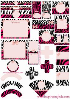 Free printable zebra print paper hot pink zebra template by stacyo zebra and pink free printable kit filmwisefo