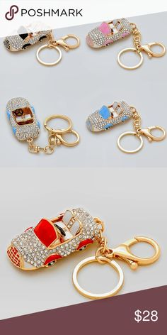 Key Chain- Bag Accessories Crystal Studded Various Colors Cars Accessories