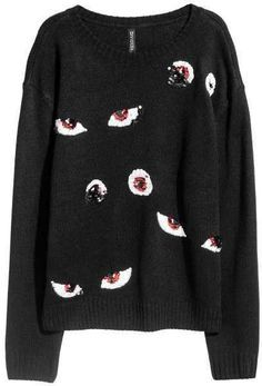 Spooky sweater for Halloween.