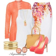 Spring Work Outfit by arjanadesign on Polyvore by lafoyleevans