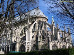 Notre Dame de Paris Cathedral Flying Buttresses