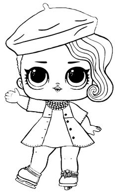 LOL Surprise Doll Coloring Pages – Free Printable Coloring . Barbie Coloring Pages, Unicorn Coloring Pages, Cute Coloring Pages, Cartoon Coloring Pages, Animal Coloring Pages, Coloring Books, Coloring Sheets For Kids, Adult Coloring, Easy Disney Drawings