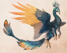 孔雀グリフォンとドラゴンの間の子。