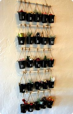 The Potted Plant Advent Calendar | 33 Clever And Adorable DIY Advent Calendars
