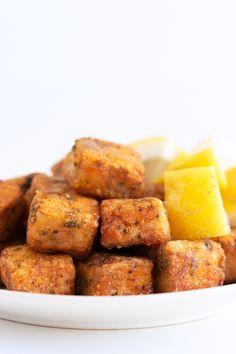 Vegan Spanish Cazon en Adobo (Marinated Fried Fish). - Cazon en adobo (marinated fried fish) is a traditional Spanish recipe. We've made a vegan version using tofu and nori flakes. #vegan #glutenfree #simpleveganblog