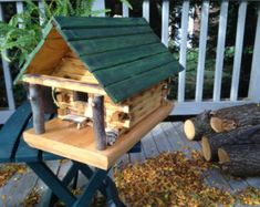 Evergreen Cottage Birdhouse FREE SHIPPING USA by WoodlandCreation
