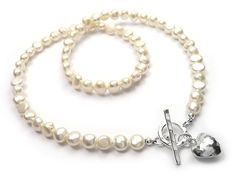 Gorgeous creamy white freshwater pearl baroque necklace that is just stunning. Baroque pearls in a creamy white shade fastening with a Karen Hill tribe. White Freshwater Pearl, Freshwater Pearl Necklaces, Pearl Jewelry, Sterling Silver Jewelry, Baroque Pearls, Classic Looks, Fresh Water, Mauve, Bracelets