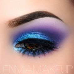 Blue and purple #eye #makeup #eyes #eyeshadow #bright #dramatic #bold