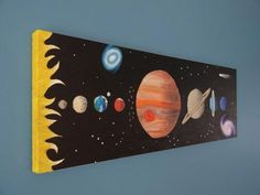 Items similar to Solar System Art Space Painting Kids Art Outer Space Art Planet Painting Boys Room Art - Original Canvas Painting on Etsy Space Painting, Painting For Kids, Diy Painting, Art For Kids, Solar System Painting, Solar System Art, Planet Painting, Boy Room Paint, Systems Art