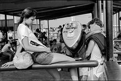 """""""Jesse at Jones Beach"""" a photograph by Joseph Szabo, is part of the exhibition """"Coming of Age in America: The Photographs of Joseph Szabo,"""" at the Heckscher Museum of Art in Huntington, Jan. 14 to March Photo Credit: Joseph Szabo;"""