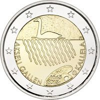euro: Anniversary of the Birth of Akseli Gallen-Kallela Country: Finland Mintage year: 2015 Face value: 2 euro Diameter: mm Weight: g Alloy: Bimetal: CuNi, nordic gold Quality: Proof, BU, UNC Mintage: pc Piece Euro, Euro Coins, Commemorative Coins, World Coins, European History, Money Matters, Coin Collecting, Malta, Bronze