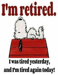 I'm re-tired too ps Are people who worked for Kwikfit but now qualify for a pension, categorise themselves as = re-TYRED ?  ( I'm just sayin )
