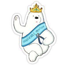 """""""Honorable Ice Bear"""" Stickers by Connor Keane 
