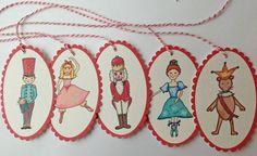 printable Nutcracker theme tags or ornaments More