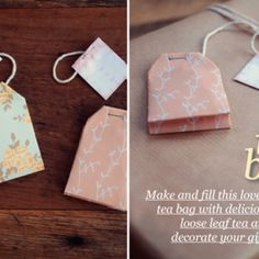 Tea Bag Gift Tag Tutorial (Tuto to Make Your Tea Bag Gift Tags from Wrapping Paper & Free Printbale Tags) Diy Tea Bags, Diy Cadeau, Mad Hatter Tea, How To Make Tea, Tampons, Loose Leaf Tea, Wedding Favours, Diy Favours, Tea Favors