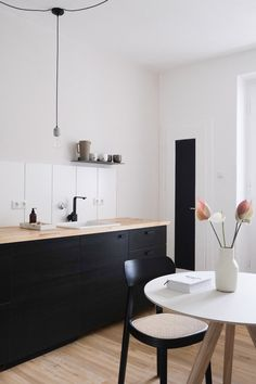 Good morning, my mother - Good morning, my mother SoLebIch.de Informations About Guten Morgen, meine Mamilein Pin You can easi - Black Kitchens, Cool Kitchens, Dream Kitchens, Home Design, Home Interior Design, Small American Kitchens, Farmhouse Kitchen Decor, House Rooms, Interior Inspiration
