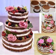 Nahá svadobná torta | Autorka: abriela | Tortyodmamy.sk