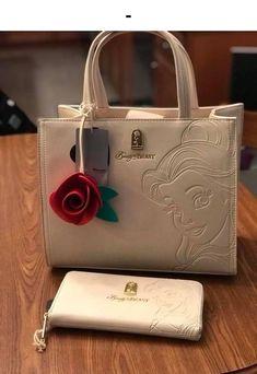 Loungefly x Disney Belle Embossed Tote Bag Disney Handbags, Disney Purse, Purses And Handbags, Disneyland, Cute Mini Backpacks, Sacs Design, Disney Beauty And The Beast, Disney Jewelry, Disney Merchandise