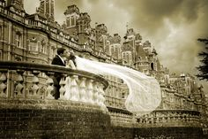 Arguably our most famous wedding shot. Could you recreate this exquisite veil shot on one of Royal Holloways Balustrades?
