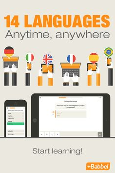 Whether you're on the bus or on a lunch break, learn a new language in minutes with Babbel. Babbel makes language learning easy, effective and convenient for everyone. With each course, you'll learn by doing and progress fast. The course is broken into small blocks that are useful in everyday life: grammar and vocabulary practice are built into units that focus on practical things like getting to know someone, ordering food in a restaurant, shopping, or sightseeing. Learn with Babbel today.