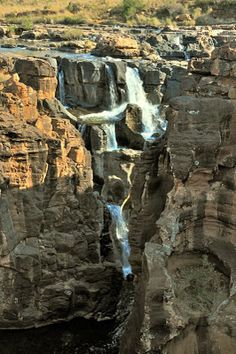 Waterfalls at the potholes along the Panorama Route, South Africa