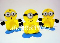 porta bombom Girl Minion, My Minion, Decor Crafts, Diy And Crafts, Crafts For Kids, Minions Eva, Edible Crafts, Minion Party, Foam Sheets