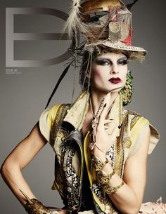 Photographer, Michael O'Sullivan Photography, Marango, and Thierry Bansront- Steampunk Emporium, Dark Beauty Magazine, Weird Fashion, Hats For Women, Eye Candy, Glamour, Style Inspiration, Lady, Photography