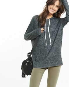 express one eleven plush jersey hoodie in a medium