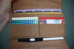 """""""Busy wallet"""" - fill thrift store wallet with a pen, little bits of paper, stickers, pictures, etc. To keep kids busy in restaurants and such. I would have loved having my own personal wallet when I was little."""