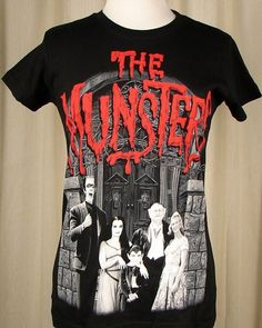The Munsters Family Womens T Shirt:Look it's Herman, Lily, Eddie, Grandpa and... oh what's her name? Oh yeah Marilyn, the