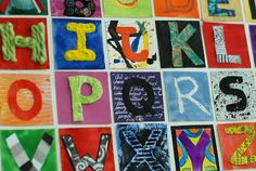 that artist woman: Alphabet Inchies A list of awesome techniques for each letter!