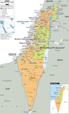 Detailed Political Map of Israel Kashmir Map, Middle East Map, Israel, Bible Mapping, Printable Maps, Country Maps, Map Globe, Haifa, Holy Land