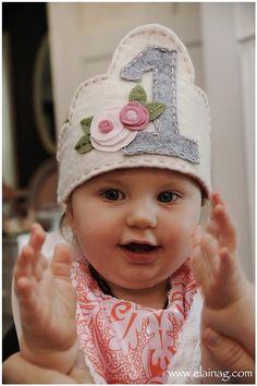 1st Birthday Hat Made With Felt