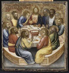 Scènes de la Vie du Christ. La Cène // s.XIV // Mariotto di Nardo //  Avignon, musée du Petit Palais //  #LastSupper #HolyWeek #Triduum