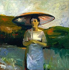 Elmer Bischoff (American, 1916-1991) - Woman with Umbrella,1957. Oil on canvas