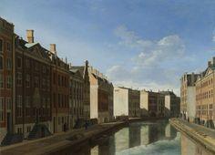 De Gouden Bocht in de Herengracht in Amsterdam vanuit het oosten, Gerrit Adriaensz. Berckheyde, 1671 - 1672
