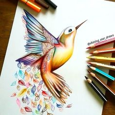 Awesome Hummingbird Tattoo Design