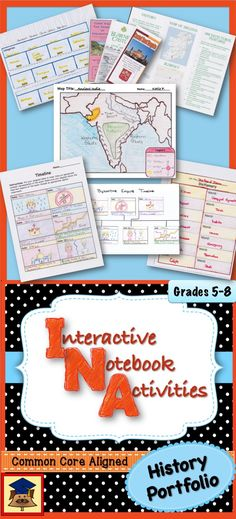 Interactive Notebooks are a great way for students (and their teachers) to track their progress, to stay organized, and the final products look great and are something students can be proud of. History Units Interactive Notebook and Portfolio includes fifteen activities that can be used with any history or social studies unit. Each activity has a graphic organizer or foldable template, instructions and teaching suggestions, and student rubrics that are ready to be copied and handed out.