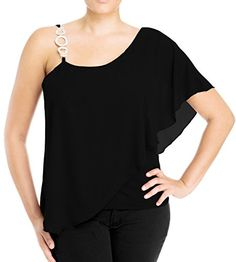awesome eVogues Plus Size Asymmetric Pendant Strap One Shoulder Layered Top -Made in the USA. Please select your size according to the measurements below. Bust: (1XL) 36-40 inches (2XL) 38-42 inches (3XL) 40-44 inches Waist: (1XL) 36-40 inches (2XL) 38-42 inches (3XL) 40-44 inches -http://weddingdressesusa.com/product/evogues-plus-size-asymmetric-pendant-strap-one-shoulder-layered-top/