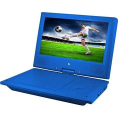 "Ematic - 9"" Portable DVD Player - Blue"