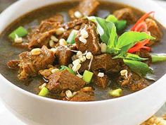 Rawon a.k.a Black Soup Meat.  Original food from Indonesia :)