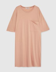 Basic dress with short sleeves - Dresses - Clothing - Woman - PULL&BEAR Ukraine