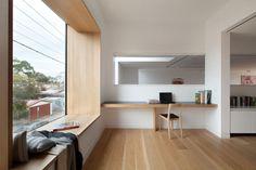 Northcote Warehouse, Pleysier Perkins, частные дома в Австралии, особняки в Мельбурне, эркерное окно, складная деревянная лестница, дом с видом на Мельбурн