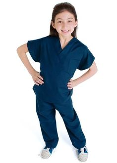 Wanna play doctor? Now your child really can in this miniature version of our classic scrubs. V-neck top with reinforced neck holds up after many rounds of play