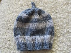 Handknit wool hat for baby by SusanDeanne on Etsy